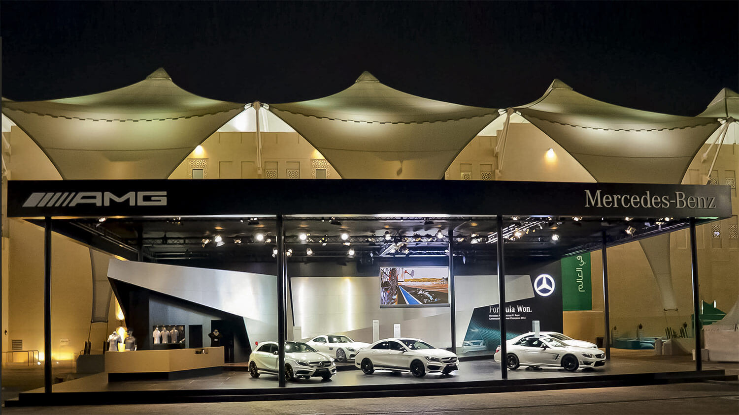 Mercedes AMG Motor Sport | Exhibition Stands in Abu Dhabi | Realis ME